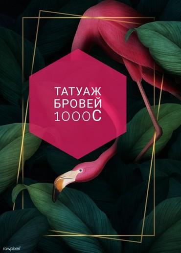 татуаж растушевка бровей в Кыргызстан: Татуаж бровей теневая растушевка,микроблейдинг(волосковый),смешанная т
