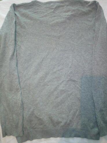 L - размер, тонкий свитер, мужской/ женский, У- образный вырез на