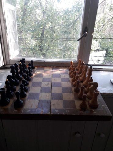 Шахматы деревянные большие 0.45×0.45 и в Бишкек