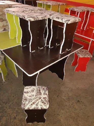 стол на кухню раскладной в Кыргызстан: Стол 4шт табуретка 3000сом+Доставка