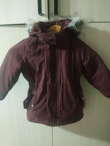 Детские флис - Кыргызстан: Детская куртка парка на 1-2года 92рост флисовый подклад