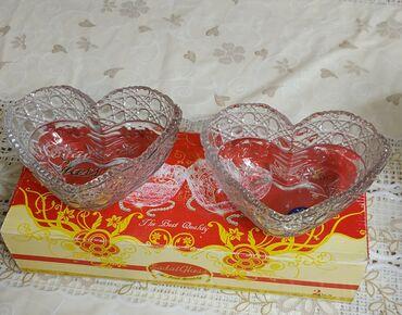 Небольшие вазочки для конфет. стеклянные.НОВЫЕ.цена 150 сом
