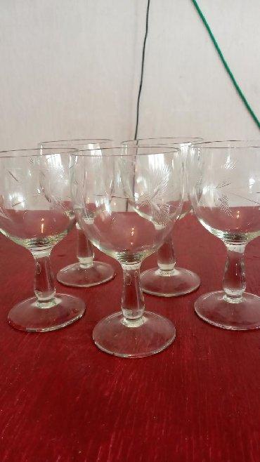 Свадебные бокалы ручная роспись - Кыргызстан: Продаю советские бокалы для вина. 5 шт