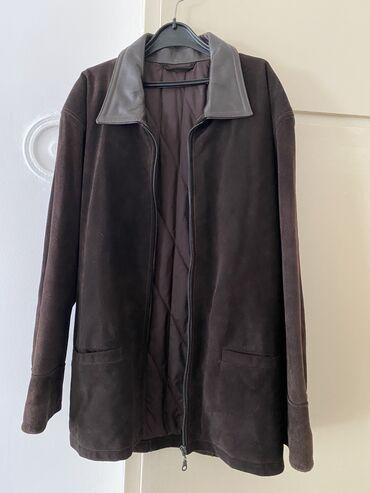 Muske jakne zimske - Srbija: Muška kožna jakna, tamno braon boje, postavljena, veoma kvalitetna i i