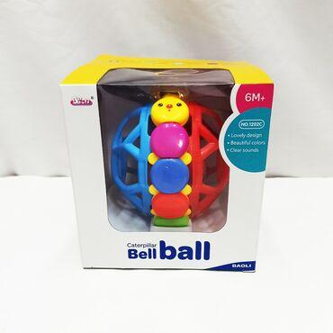Яркая разноцветная погремушка мячик для совсем маленьких!!⠀Размер