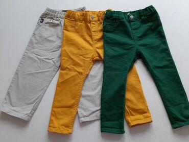Na prodaju troje NOVIH pantalonica kao PAKET varijanta.Zelene i zute -