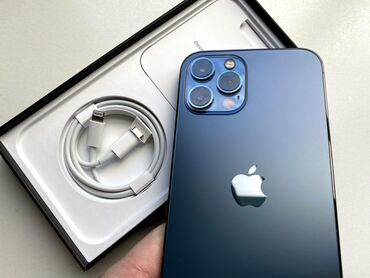 IPhone 12 Pro Max | 256 ГБ | Голубой | Новый | Гарантия, Face ID, С документами