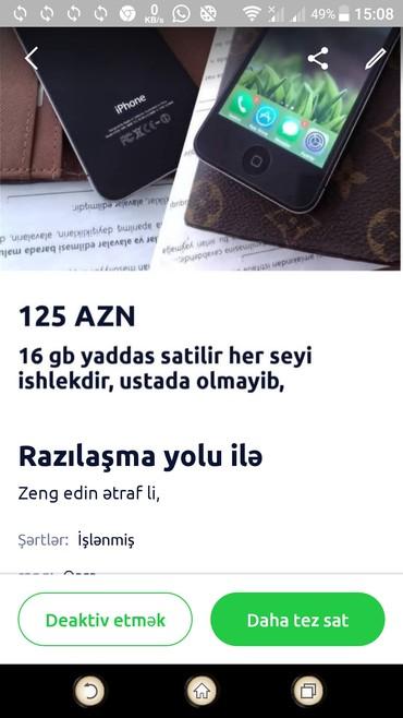 Bakı şəhərində Sekildeki iphone 4s satiram, oz telef.numdu gozel veziyyetdedi