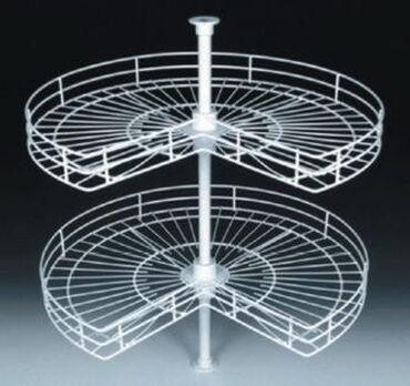 Аксессуары для кухни - Кыргызстан: Полка карусель для углового шкафа, крутящаяся, диаметр 80 см и высота