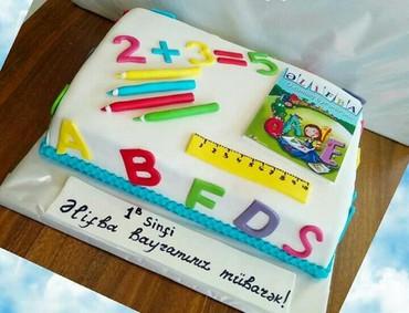 Bakı şəhərində Tort mektibli tortlar sifarisi gebul olunur