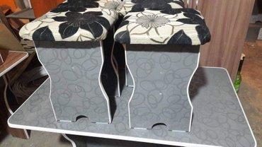 продаю новый стол с 4 табуретками в Бишкек