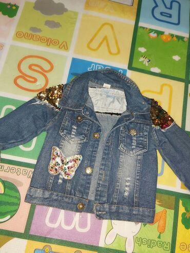 PОчень красивая джинсовка возраст 1-2года состояние 4+