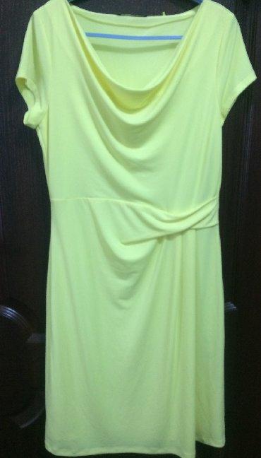 платье из шифона в Кыргызстан: Нежное солнечное платье из шифона с подкладом, размер 42-44, состояние
