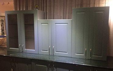 Шкафчики навесные для кухни длиной 210 см из 5 отдельных . в Бишкек
