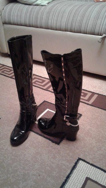 Продаю сапоги дэми, размер 37, одевала один раз. в Бишкек
