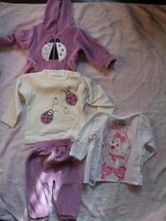 Ostala dečija odeća | Velika Plana: Kompletic za bebe br 56 NOVO trodelni +benkica proizvodjac Hajdi