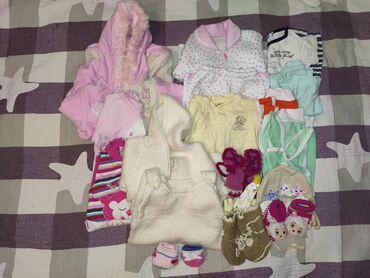 женские-трусы-слипы в Кыргызстан: Одежда на девочку 0-3 месяца, б/у. Состояние среднее и хорошее. 20