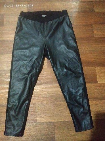 женские-брюки-черные в Кыргызстан: Кожаные штаны 52-54,в идеальном состоянии, производство Турция