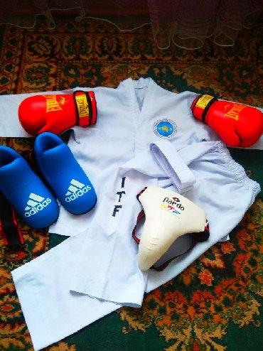 квартира берилет кант in Кыргызстан | БАТИРЛЕРДИ УЗАК МӨӨНӨТКӨ ИЖАРАГА БЕРҮҮ: Форма для занятий тхэквондо. Весь набор Размер 38, для ребенка 8-10