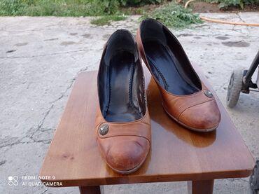 Кожаные туфли, состояние среднее