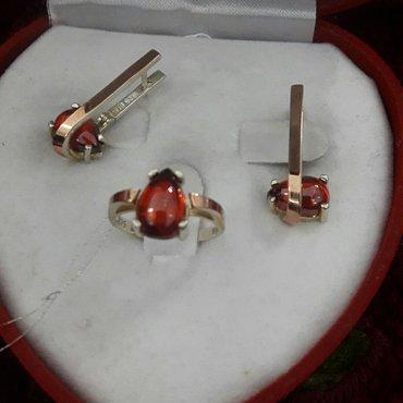 Набор из серебра покрытие золотом проба 925 производитель Турция  в Бишкек