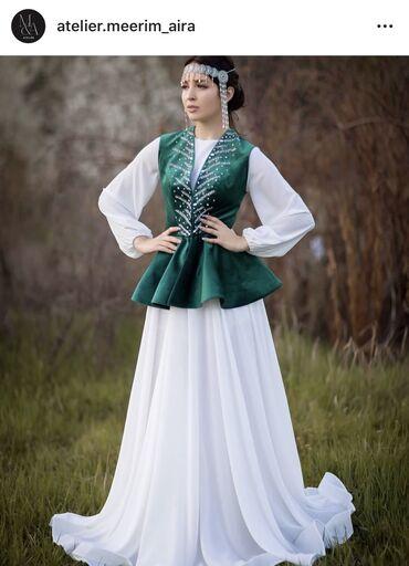 платье из королевского бархата в Кыргызстан: Продаётся платье на кыз узатуу.Было сшито на заказ by M&A