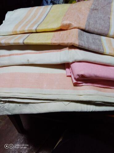 Продаю льняную ткань для простыней и полотенец .200 сом за метр