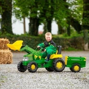 Sediste za decu - Srbija: AKCIJA DO ISTEKA ZALIHA Cena 18.590 dinara Traktor John Deere sa