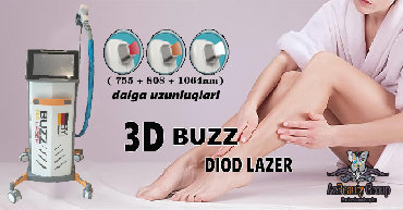 alejsandrit lazer candello - Azərbaycan: Lazer epilyasiya aparatları Aleksandrıt atıslı 3d buzz lazer