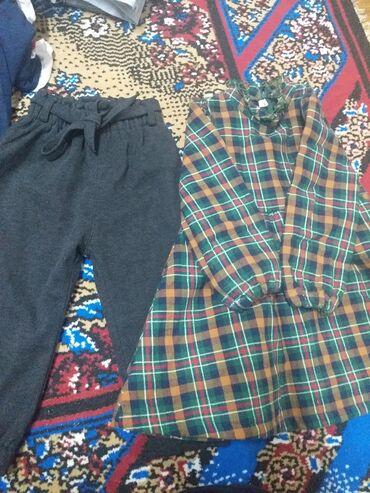 панбархат платья in Кыргызстан | ПЛАТЬЯ: Тёплое платье и штаны состояние хорошое на 2/5 до 3 года