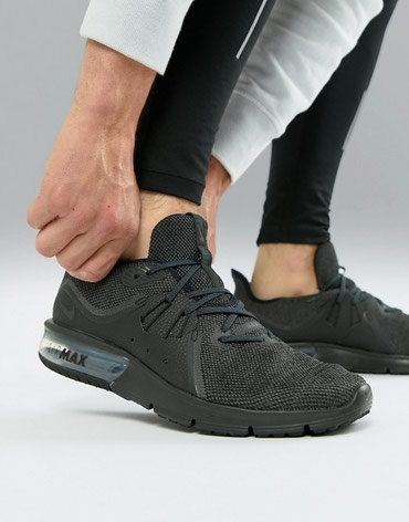 Черные кроссовки Nike Running Air Max sequent 3 921694-010