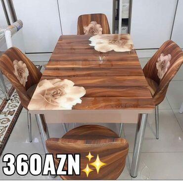 Masa +4stul 360Azn Turkiye istehsalidir Reng secimi var Masa bagli