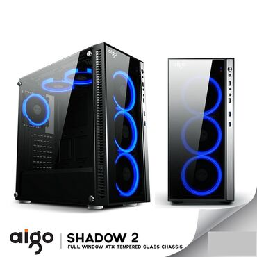 Aigo Shadow 2 Mid Tower gaming pc caseMəhsul təzədir. Boş keysdir. Ön