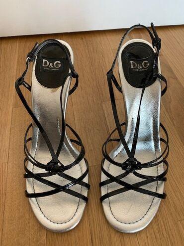 Zenska odeca i obuca - Srbija: Prodajem originalne, vrhunske Dolce&Gabbana sandale sa crnim
