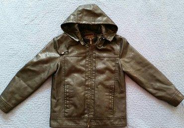 Коженаая куртка на мальчика 9-10 лет, в в Бишкек