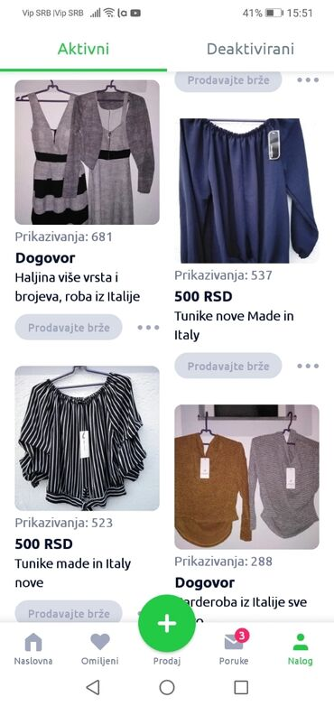 Ostalo - Sombor: Roba na ovih par oglasa, nova, koja se hitno prodaje, made in Italy