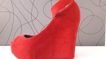 Sandale Kitten crvene broj 37 sa punom petom malo nosene - Beograd