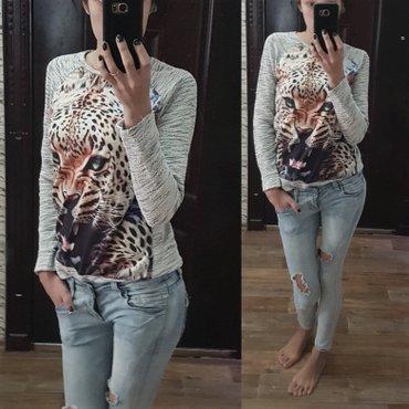 теплые кофточки/ блуза со стразами/ свитшот с тигровым принтом /свитшо в Бишкек