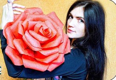 Большие бумажные цветы,розы. в Бишкек