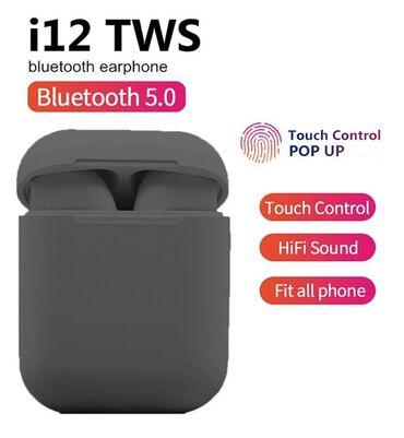 Elektronika - Kopaonik: Bluetooth blutut Bezicne Slusalice InPods 12 - Crne- Bezicno