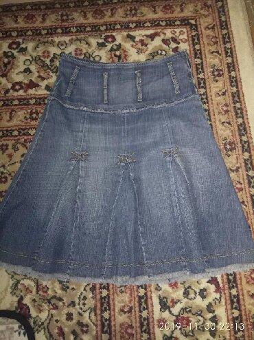Джинсовая юбка.размер52,54