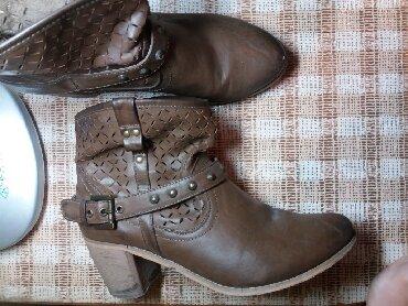 ботильоны-коричневые в Кыргызстан: Ботильоны, ботинки, Размер 40, кожа