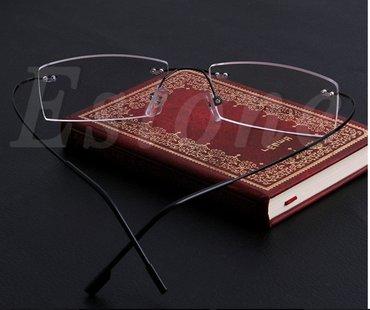 Fashion metal rimless eyeglasses frame spectacle lightweigh  - Novi Sad - slika 2
