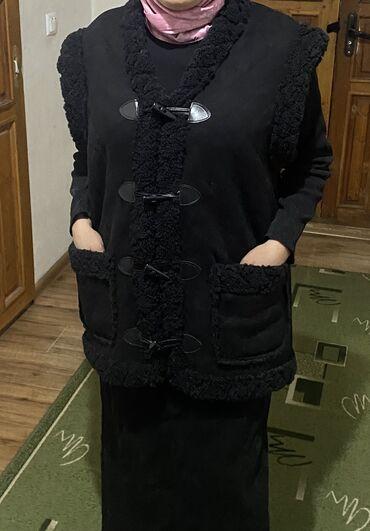 жилет мужской в Кыргызстан: Мужские и женские жилет из дублёнки есть разные расцветкидоставка