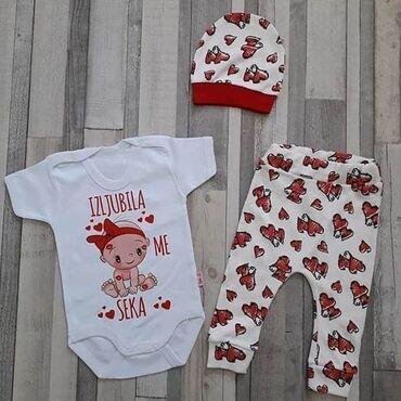 Pantalonice - Srbija: Novo u ponudi Samo bodic 1300dinkompletici bodic+kapica+pantalonice
