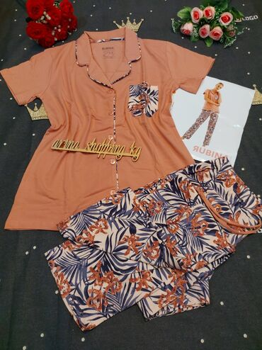 Домашние костюмы - Кыргызстан: Женская пижама Размер 42-44,44-46,46-48