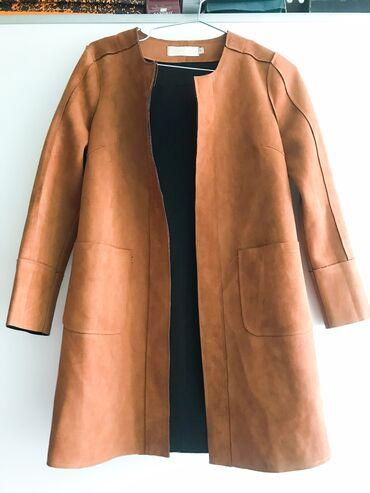Замшевое Пальто. Весна/Осень. Размер: М. Длина: ниже пояса. Подойдёт