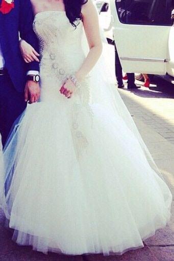Свадебное платье цвета Айвори, в Бишкек