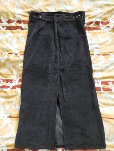 Вельветовая черная юбка для беременных  Размер: L в Meyrin