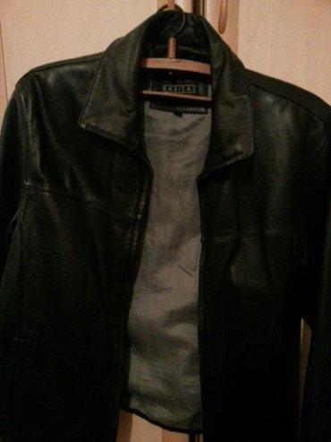 Пиджак кожаный, б/у, сост отл, замок в Лебединовка